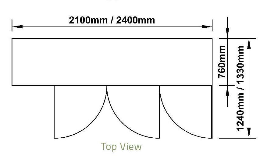 Bàn đông 3 cánh-Berjaya (BS 3DF7/C) (BS 3DF8/C) - ct 2