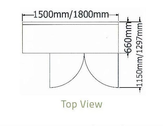 Bàn mát 2 cánh kiếng thành sau-Berjaya (B 2D/C5/6-S) (B 2D/C6/6-S)- kt 1