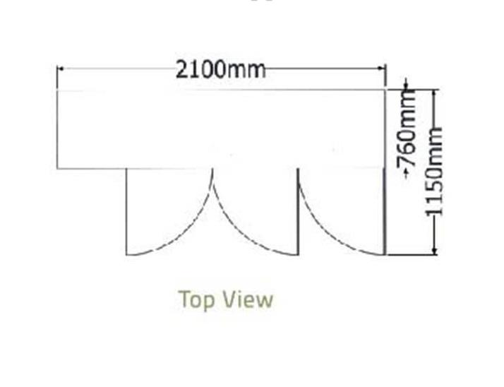 Bàn mát 3 cánh kiếng-Berjaya (B 3D/C7/7-S) - hinh 1