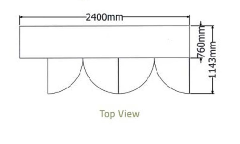 Bàn mát 4 cánh kiếng-Berjaya (B 4D/C8/7-S) - hinh 1
