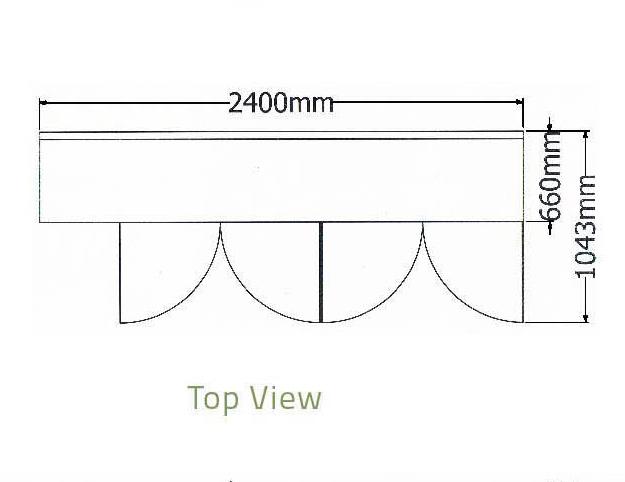Bàn mát 4 cánh kiếng thành sau-Berjaya (B 4D/C8/6-S) - ct1