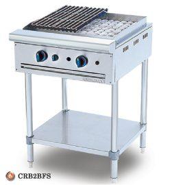 Bếp nướng than nhân tạo 2 họng có kệ dưới