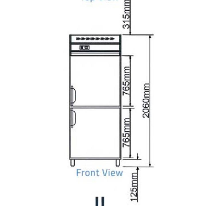 Tủ đông 2 cánh-Berjaya (BS 2DUF/C) - chi tiết 2