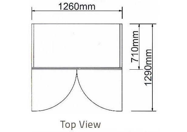 Tủ mát 2 cánh kiếng-Berjaya (2D/DC-S) - hinh 1