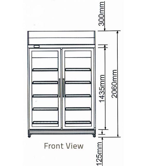 Tủ mát 2 cánh kiếng-Berjaya (2D/DC-S) hinh 2