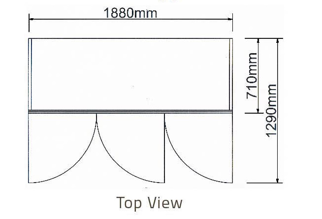 CHI TIẾT Tủ mát 3 cánh kiếng-Berjaya (3D/DC-S)